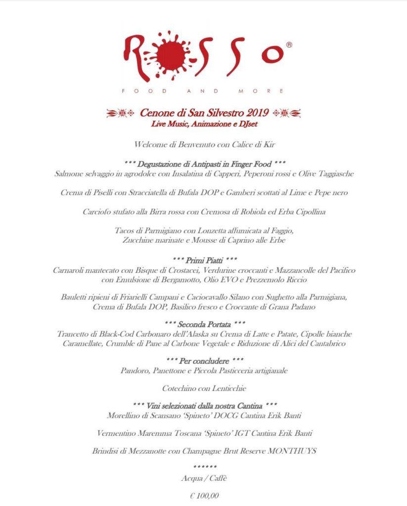 Capodanno al ROSSO Food and More Olgiate Olona Varese